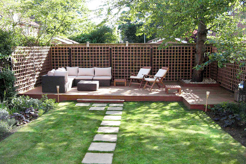 Landscape design of the yard