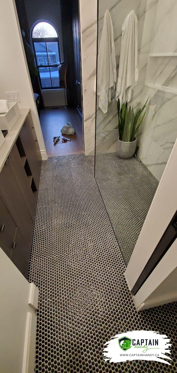 Bathroom flooring in Toronto