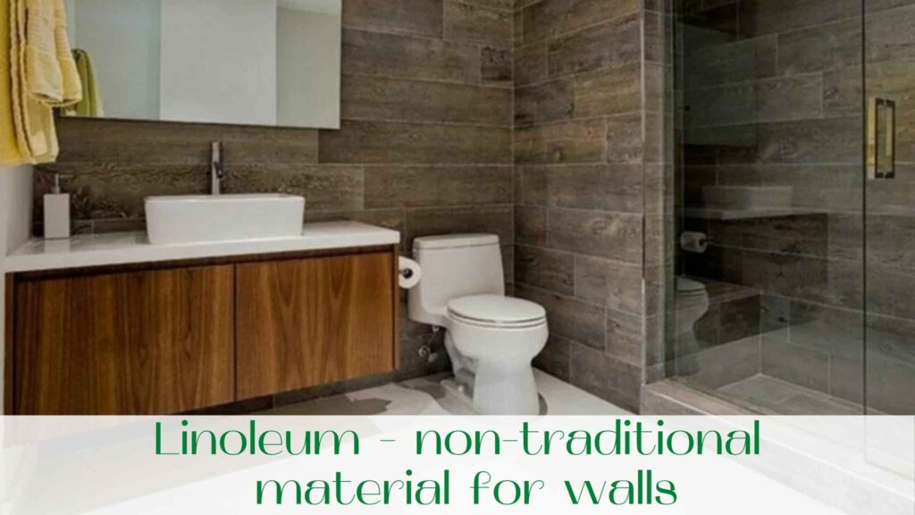 image-Linoleum-non-traditional-material-for-walls