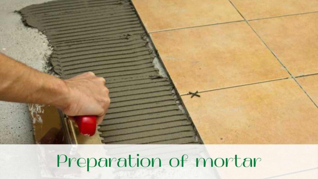 image-Preparat-on-of-mortar-for-floor-tiles