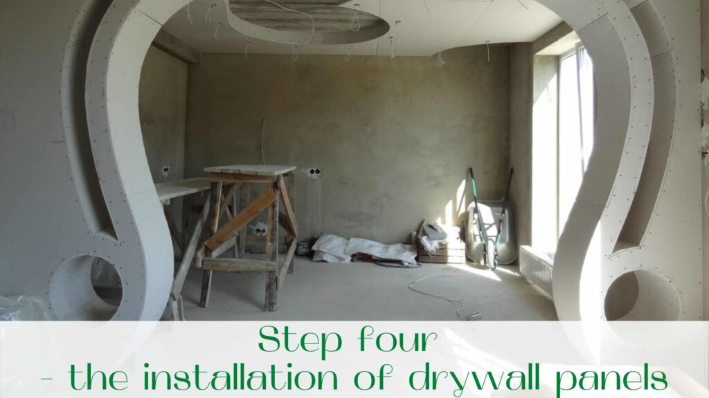 image-Step-four-the-installation-of-drywall-panels